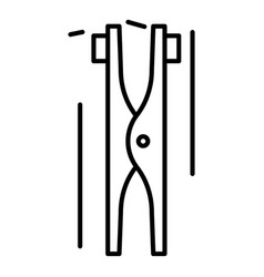 Welder tool icon outline style vector