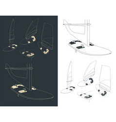windsurf sketches vector image
