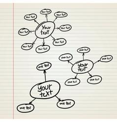 blank Hierarchy diagram vector image