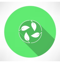 cycle leaves icon vector image vector image