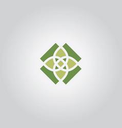 Flower abstract decorativ logo vector