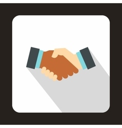 Handshake icon in flat style vector image vector image