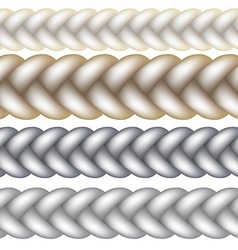 Seamless Woven Braid vector image