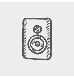Two way studio speaker sketch icon vector image
