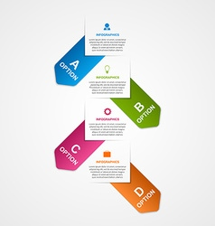 Abstract business options infographics template vector image