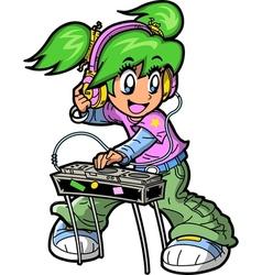 Anime Manga DJ vector image vector image