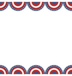 Border of American flag vector image