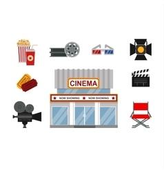Cinema symbols vector image vector image