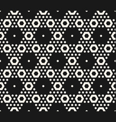 geometric seamless pattern with hexagons vector image vector image