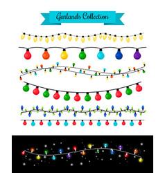 Light decoration christmas bulb garlands vector