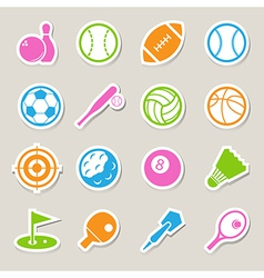 Sports Icons set EPS10 vector image vector image