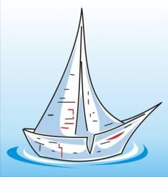 bateau papier vector image vector image