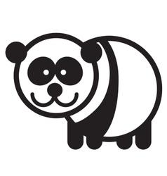 Cute animal panda - vector image vector image