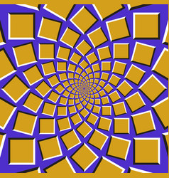 squares are moving circularly toward the center vector image vector image
