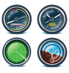 travel and vacations icons vector image vector image