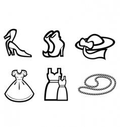 woman fashion elements vector image vector image