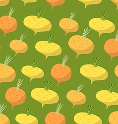 Yellow turnip pattern seamless background with vector