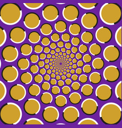circles are moving circularly from the center vector image vector image