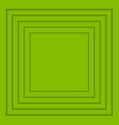 Concentric greenery squares background vector