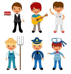 Professional occupations 3 vector image
