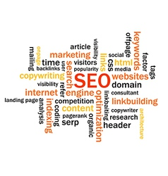 Search Engine Optimization Abstract Image vector image vector image