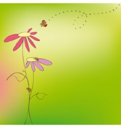 spring summer floral vector image vector image
