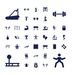 37 gym icons vector