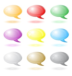 3d chat icons vector image