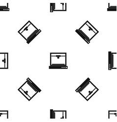 3d printer model pattern seamless black vector image