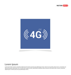 4g icon - blue photo frame vector