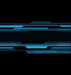 abstract blue black cyber geometric banner vector image