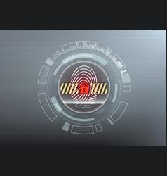 Access denied on modern futuristic interface vector