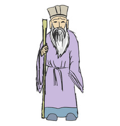 Ancient chinese philosopher vector
