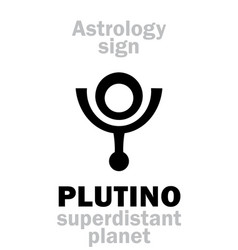 Astrology plutino little planet vector