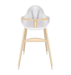 baby high chair with seat belts isolated on a vector image