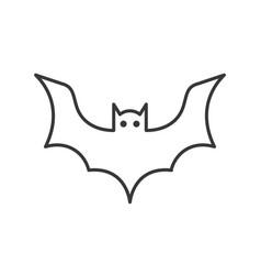 Bat icon halloween related character editable vector