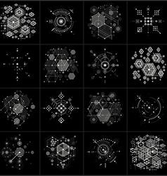 Bauhaus art composition set decorative modular vector