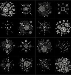 Bauhaus art composition Set of decorative modular vector