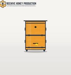 Beehive line vector