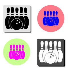 bowling flat icon vector image