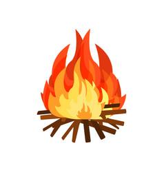 burning bonifire element of stone age vector image