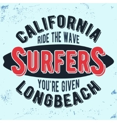 California surfers vintage stamp vector