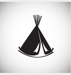 Camp house tent vigvam on white background vector