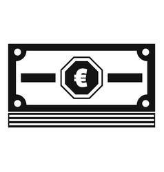 cash money icon simple black style vector image