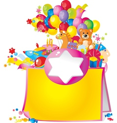 Childrens birthday vector image