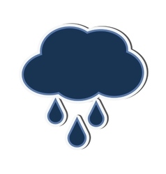 cloud drop raining design vector image