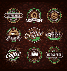 coffe logo collection vector image