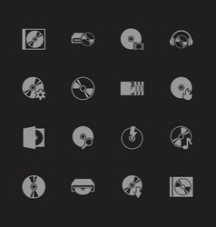 Compact disk - flat icons vector
