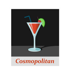 Cosmopolitan cocktail menu item or any kind of vector