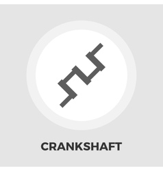 Crankshaft flat icon vector image